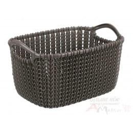 Корзинка Curver Knit Rectangular XS коричневый