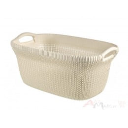 Корзина Curver Knit Laundry Basket 40 л белый
