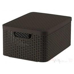 Ящик с крышкой Curver Rattan style Storage box M темно-коричневый