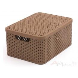 Ящик с крышкой Curver Rattan style Storage box M светло-коричневый