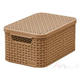 Ящик с крышкой Curver Rattan style Storage box S светло-коричневый