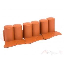 Ограждение декоративное Prosperplast Palisada IPAL6 302 x 10 см (терракот)