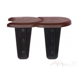 Ограждение декоративное Prosperplast Palisada Plaska камень 383.4 x 11.5 см (коричневый)