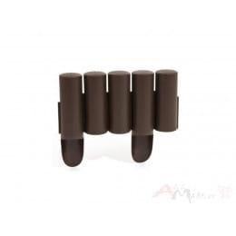 Ограждение декоративное Prosperplast Palisada 235 x 15 см (коричневый)