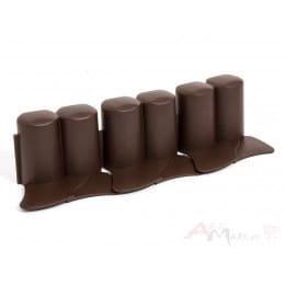 Ограждение декоративное Prosperplast Palisada IPAL 6 302 x 10 см (коричневый)