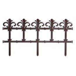 Забор садовый Prosperplast Garden Art (коричневый)