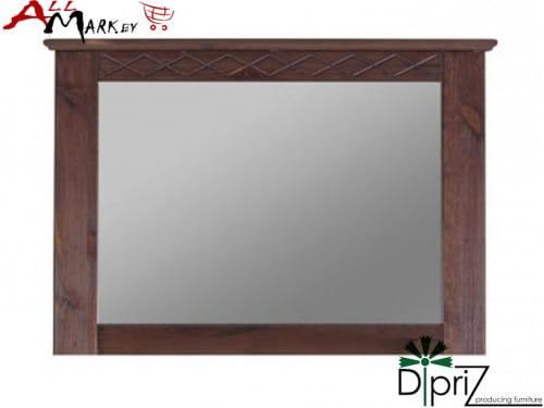 Настенное зеркало Индра Диприз Д 7137 с деревянной рамой