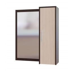 Зеркало настенное со шкафчиком Сокол-мебель ПЗ-4 венге / беленый дуб