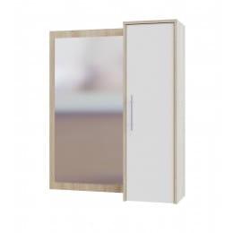 Зеркало настенное со шкафчиком Сокол-мебель ПЗ-4 дуб сонома / белый
