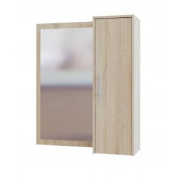 Зеркало настенное со шкафчиком Сокол-мебель ПЗ-4 дуб сонома